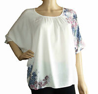 BRAND NEW LADIES MARKS AND SPENCER PER UNA CREAM BATWING BLOUSE TOP SIZES 8 - 22