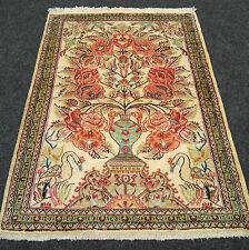 Orient Teppich Seide 85 x 63 cm Perserteppich Vase Seidenteppich Silk Carpet Rug