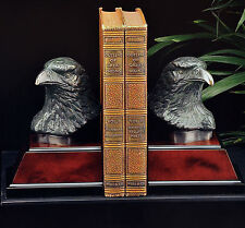 Bookends Eagle Bronzed Patina gift book self new  Bey-Berk