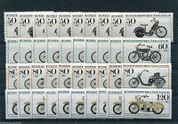 10 x Berlin 694 - 697 postfrisch Motiv Motorrad Sammlung Michel 80,00 Euro MNH