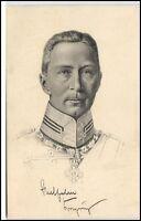 Militär & Patriotik Motiv-AK Kronprinz Wilhelm in Militär Uniform Stengel Verl.