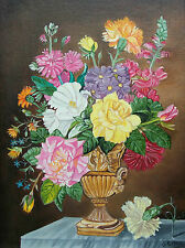 J. RILEY - Floral Still Life Painting - Framed - Canada - Late 20th Century