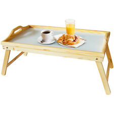 Large Pine Wooden Over Bed Folding Laptop Dining TV Lap Breakfast Table Tray NEW