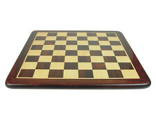 "Narrow Border Flat Wooden Chess Board 23"" Solid Rosewood/Maple. Sq. Size 2-1/2"""