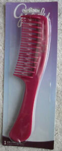 Solid Plastic Curved Wide Spaced Teeth Tooth Detangling Hair Comb Detangle Goody