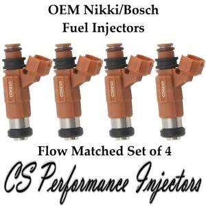 OEM Fuel Injectors Set (4) for 1997-2002 Mitsubishi Mirage 1.8 I4 97 98 99 00 01