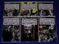 2008 Incognito 1 2 3 4 5 6 Full Run Marvel Icon 1 6 1st Prints Ed Brubaker