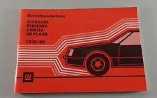 Mode D 'em Ploi Chevrolet Cititation, Pontiac Phoenix, Oldsmobile Omega 1979