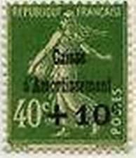 "FRANCIA STAMP FRANCOBOLLO 253 "" CAISSE AMMORTAMENTO +10 C S 40 cent. "" xx TTB"
