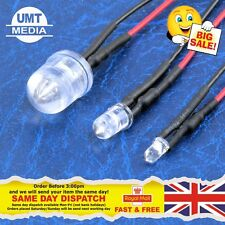 12V Pre-Wired LEDs 3mm/5mm/10mm Various Colours Lamp Wired LED 9V 12 Volts UK