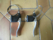 VELO  VINTAGE PAIRE LEVIER MANETTES PERFOREES FREINS MAFAC +CABLES BRAKE LEVERS