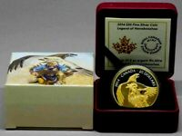 2014 CANADA $20 DOLLARS LEGEND OF NANBOOZHOO 9999 SILVER COLOR PROOF