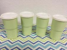 Tupperware Table Top Stacking Tumblers Set Of Four 12oz Light Green New