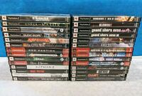 PlayStation 2 PS2 Shooter Lot of 28 Games - No Duplicates - Tested