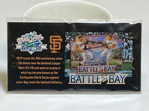 Battle Of The Bay 89 World Series 30 year Anniv Pin SF Giants vs Oakland A's SGA