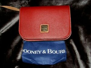 Dooney & Bourke Leather Wine Convertible Belt Bag Purse, Dust Bag New with Tags