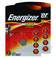2 x Energizer Lithium CR1616 batteries 3V Coin Cell DL1616 KRC1616