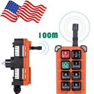 USA Transmitter&Receiver Hoist Crane Radio Industrial Wireless Remote Control