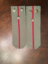 K8) Cold War Communist Europe Bulgarian Military Pair Colonel Uniform Epaulettes