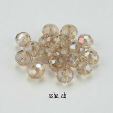 DIY 100Pc 4mm Round Crystal Glass Beads SSha AB Spacer Bead For Bracelet Jewelry