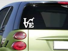 """Whippet love 6"""" STICKER *F247* DECAL dogracing track muzzle leash greyhound"""