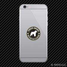 Proud Owner Bouvier des Flandres Cell Phone Sticker Mobile Die Cut