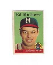 1958 Topps ED MATHEWS #440 Milwaukee Braves Poor