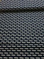 1m navy white  vintage cars 100% Cotton Fabric 45'' wide fabric freedom