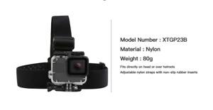 SHOOT Adjustable Harness Chest Strap Head Strap Belt For Sjcam Sj4000 Go Pro 7 8