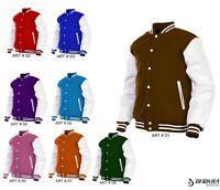 Mens Varsity Jacket Genuine Leather Arms Wool Baseball Stylish Letterman Jacket