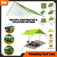 10x10 ft Camping Tent Tarp Waterproof Hammock UV Protection Rain Shelter Cover