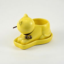 Cute Cat Shaped Ceramic Planter Home or Garden Plant Pot Container with hole
