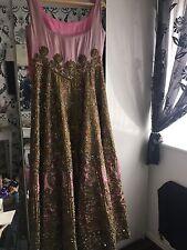 Indian Asian Wedding Saree Sari Lehenga Lehnga Dress FREE DELIVERY