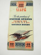 10 Cent United States War Savings Bond Booklet Feb 17,1945