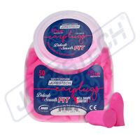 EarPlugs 50 Pair Pink Soft Foam Individually NRR 31DB Sleep Travel Noise