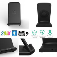 20W Qi Wireless Fast Charger Stand Pad Charging Station for iPhone 11 Pro Huawei
