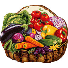 Counted Cross Stitch Kit PANNA PD-7012 - Vegetable Basket Cushion Front