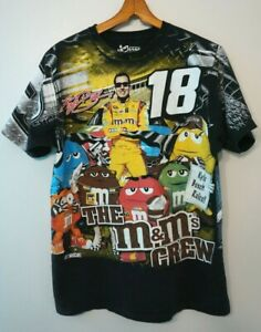 Kyle Busch 18 M&Ms T Shirt All Over Print NASCAR Size Large