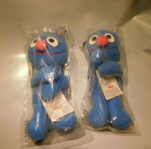 "2 New Cute 4"" Kellogg's Grover Mini Beans Plush Sesame Street NIB Bag 1999 NOS"