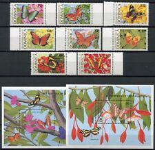 DOMINICA 1989 Schmetterlinge Butterflies Farfalla Mariposa 1213-20 + Bl.151-152
