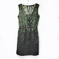 The Limited Womens Size S Small Green Black Graphic Tank Dress Knee Length