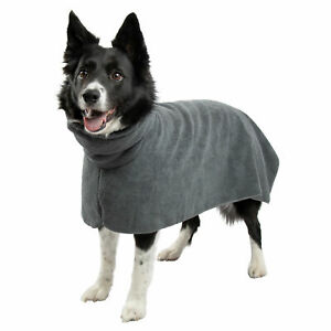 Hundebademantel | Haustiermantel | Bademantel für Hunde, grau, weich