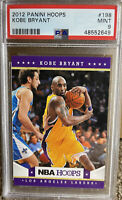 2012 PANINI NBA Hoops KOBE BRYANT PSA 9 MINT Hall Of Fame Lakers