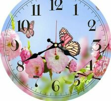 Hanging Wall Clocks Kitchen Watches Art Home Decoration Butterfly Floral Designs