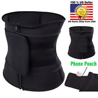 Men Women Neoprene Zip&Stick Sweat Waist Trainer Trimmer Belt Body Shaper Corset