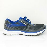 Brooks Mens Launch 3 1102151D105 Blue Gray Running Shoes Lace Up Size 10.5 D