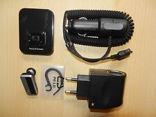 Cuffie Bluetooth Sony Ericsson hbh-pv720 Caricatore Auto Caricabatteria Adattatore dock