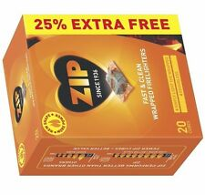 Zip Fast & Clean 40 Cubes Wrapped Firelighters For Stove Fire Places BBQ