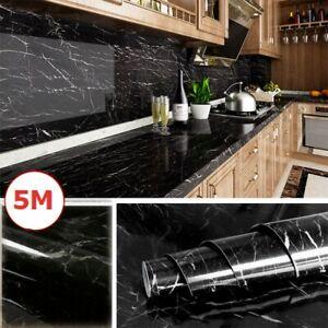 5m Marmor Klebefolie Möbelfolie Schrankfolie Selbstklebende Tapete Küche