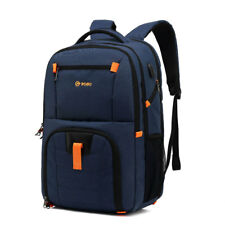 """17""""17.3"""" Nylon Laptop Backpack USB Port Notebook School Bag Pouch For Macbook HP"""
